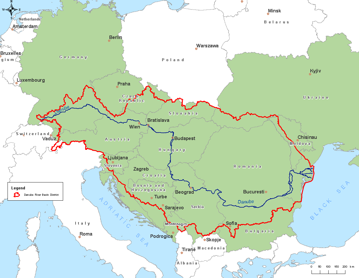 Danube River Map