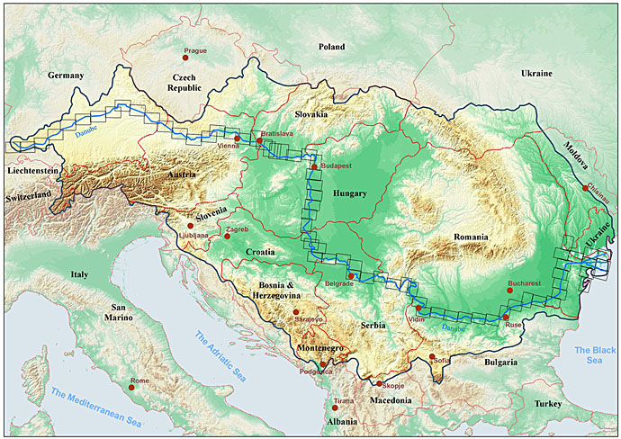 Danube FloodRisk Project ICPDR International Commission For - Danube river location on world map