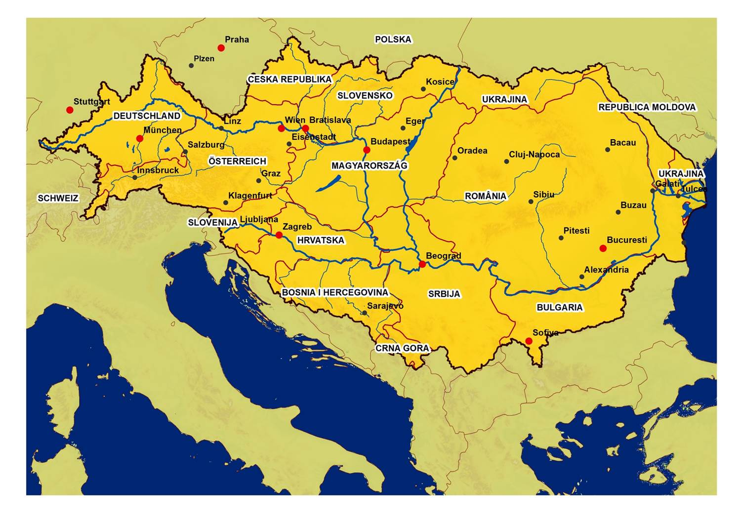 Global Change Atlas Of The Danube Region Sharing Research For - River atlas